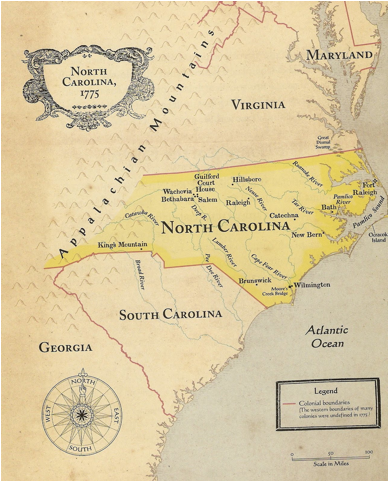 North Carolina  13 Colonies